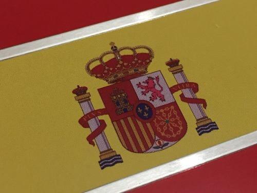 emblema logo bandeira espanha - alumínio - alta qualidade