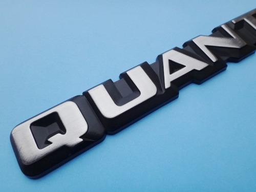 emblema logotipo escovado santanta quantum tampa porta malas