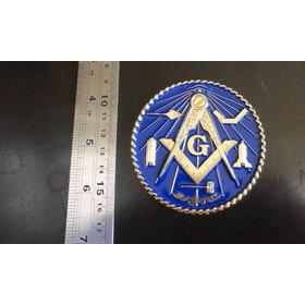 Emblema Maçonaria Carro Metal Esotérico