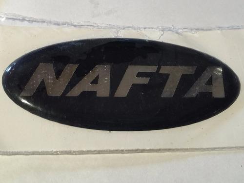 emblema nafta p/ tapa de combustible colores .x unidad