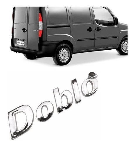 emblema nome doblô cromado - linha fiat