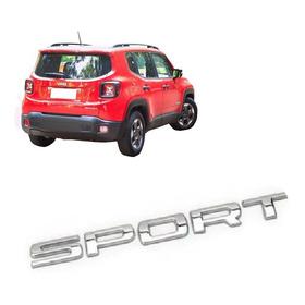 Emblema Nome Sport Jeep Renegade Cromado ( Todos Modelos )