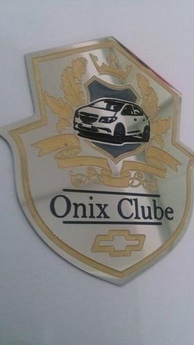 emblema onix clube de alta qualidade em aço inox!!