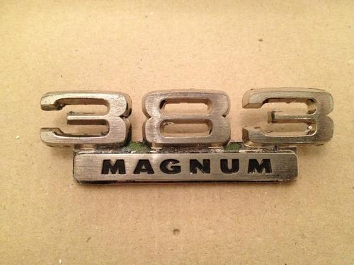 emblema original dodge 383 magnum