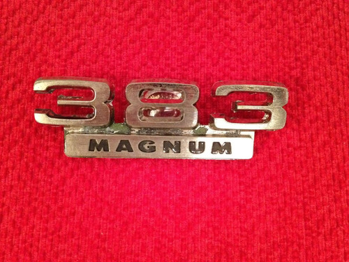 emblema original dodge - 383 magnum (americano)