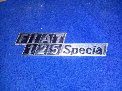 emblema original fiat 125 special pines en excelente estado