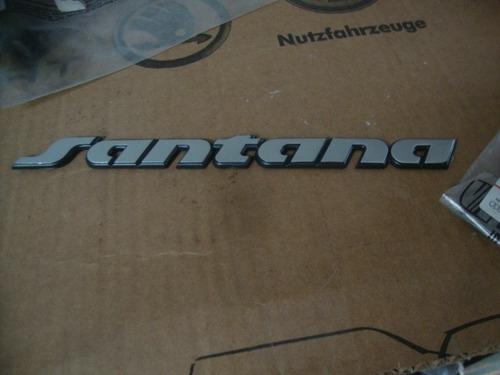 emblema ou logotipo santana cor prata 91 a 98 original vw