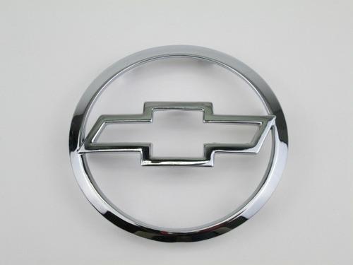 emblema para-choque dianteiro simbolo redondo cromado vazado