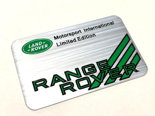 emblema para land rover evoque range - pronta entrega!