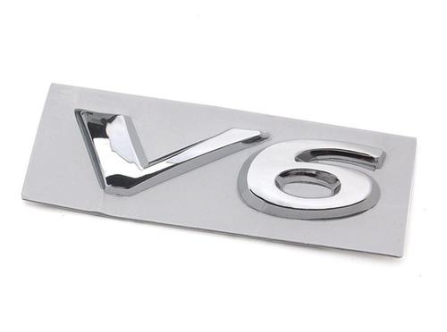 emblema porta malas traseiro v6 cromado