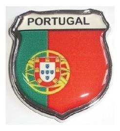 emblema portugal escudo resinado e cromado