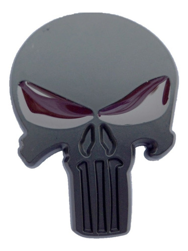 emblema punisher metálico