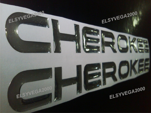 emblema  relieve para jeep cherokee classic