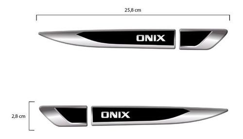 emblema resinado aplique lateral onix decorativo par