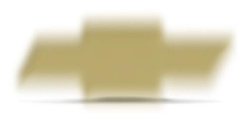emblema resinado chevrolet dourado 8x2,5cm