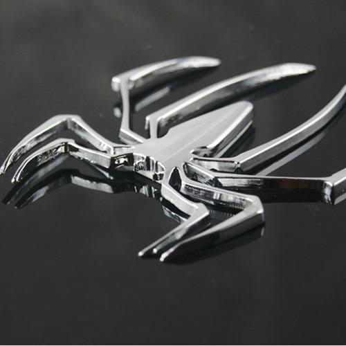 emblema spider aranha metal adesivo 3d tuning carro moto