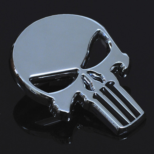 emblema sticker cromo metalico calavera punisher auto moto
