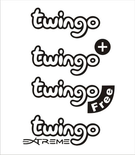 emblema tipo sticker calcomania para renault twingo