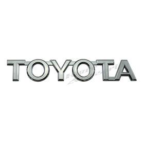 Emblema Toyota Tampa Traseira Hilux 2005 2006 2007 2008 2009 2010 2011 2012 2013 2014 2015 2016 Cromado