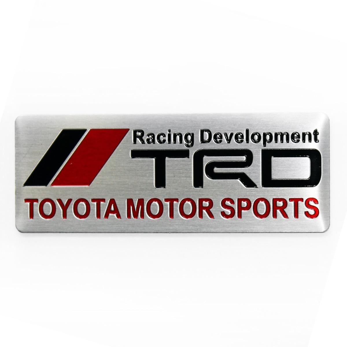 Emblema Toyota Trd Racing Development Sw4 Etios Frete Gratis R 44 99 Em Mercado Livre