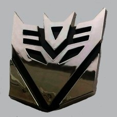 emblema transformers decepticons plastico cromado