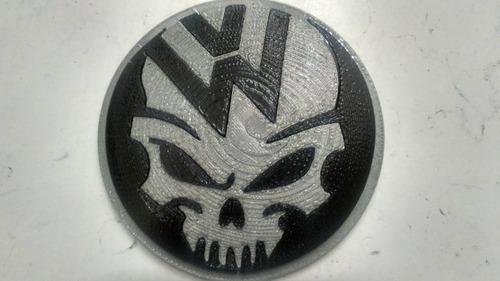 emblema trasero de calavera para volkswagen, vw 10cm vag