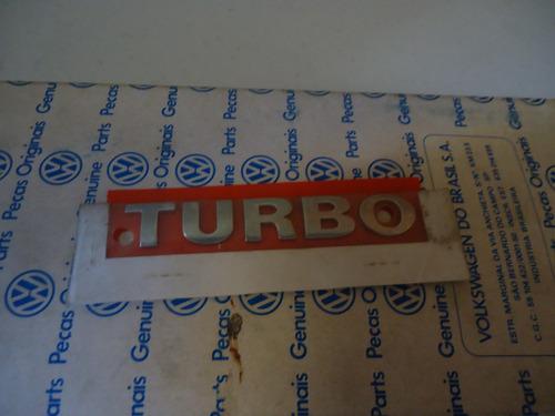 emblema turbo original vw gol parati linha g3