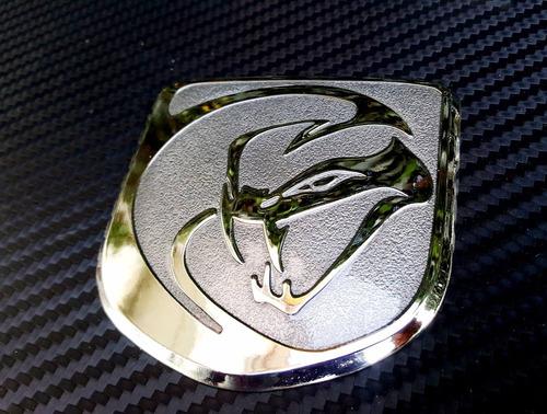 emblema viper srt gts de parrilla dodge challenger gris
