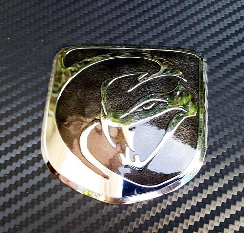 emblema viper srt gts de parrilla dodge challenger negro ch