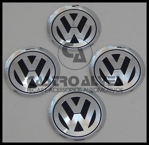 emblema volkswagen alumínio golf/ jetta/ kr kromma 78mm-1 pç