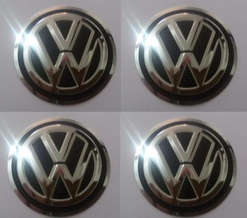 emblema volkswagen aluminío vw calota ou roda 55 mm + brinde