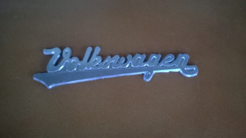 emblema volkswagen em plástico -  vws brasília fusca variant