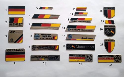 emblema vw alemanha germany para todos modelos aço inox 304