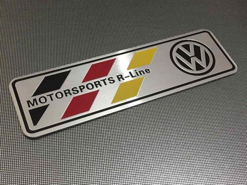 emblema vw motorsport r - line - golf jetta tiguan passat !!