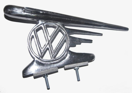 emblema vw para capô dianteiro fusca modelo foguete aluminio