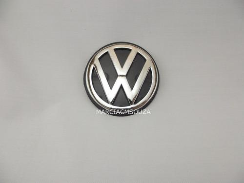 emblema vw tampa porta mala polo classic 1997 cromado