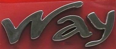 emblema way uno cromado fiat- vm auto