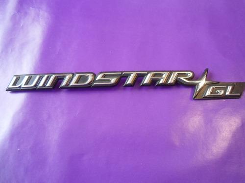 emblema windstar gl ford camioneta original