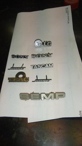 emblemas bose,lg,pioneer etc