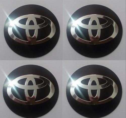 emblemas botom toyota aluminío calota ou roda 55mm