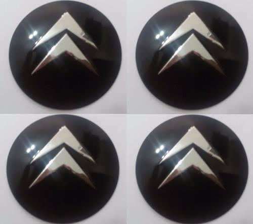 emblemas citroen aluminío calota ou roda 55mm