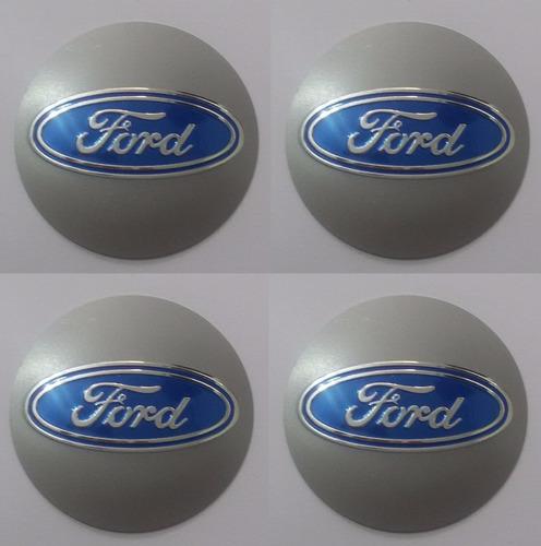 emblemas ford aluminío calota ou roda 50mm + brinde
