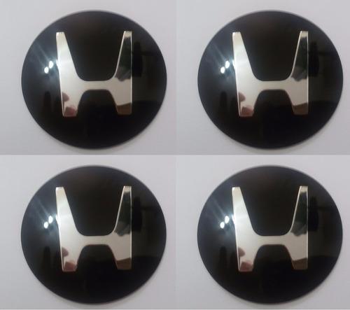 emblemas honda aluminío calota ou roda 48 mm + brinde