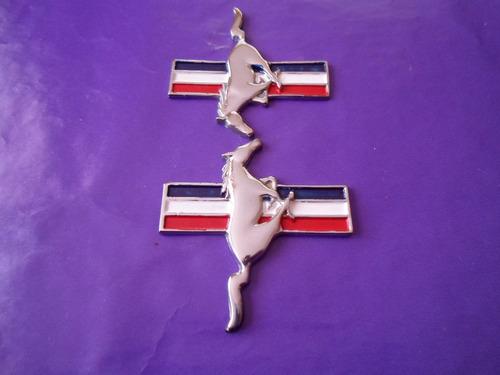 emblemas mustang ford caballos metalicos