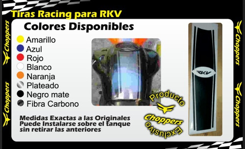 emblemas rkv 200 kit completo reflectivo empire