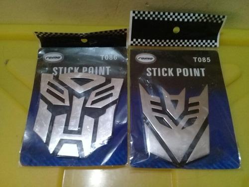 emblemas transformers - cromados
