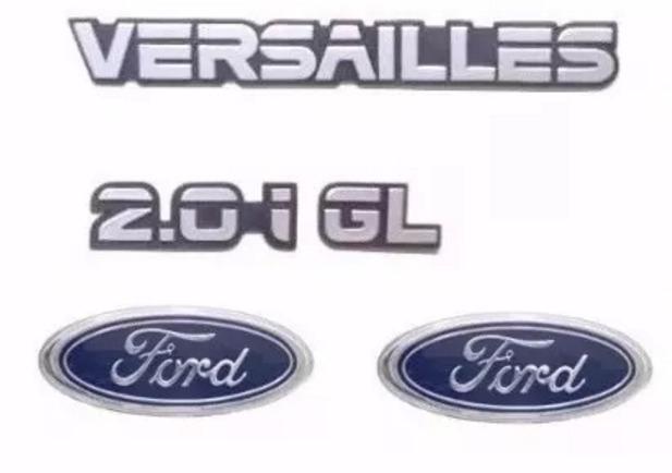 emblems versailes 2 0i gl ford dianteiro traseiro brinde r 55
