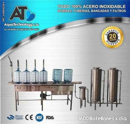 embotelladora de agua potable / sistemas de filtrado