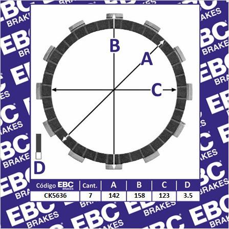 embrague juego discos ebc bmw f 650 cs scarver