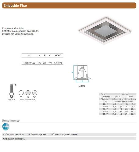 embutido fixo spot quadrado branco lâmpada eletrônica - ax